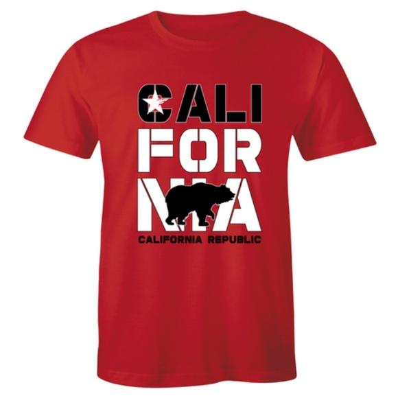 Half It Other - California Republic Black Bear Flag State T-shirt